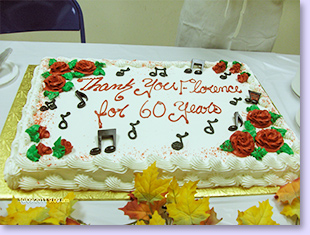 60 yeras of service cake