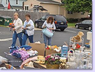 flea market items on display