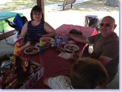Church Picnic people eating