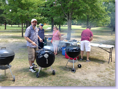 Church Picnic people cooking