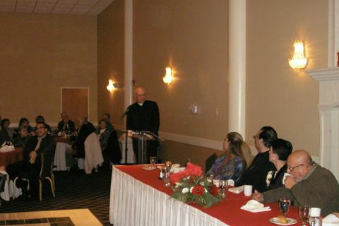 Pastor Ed speaking