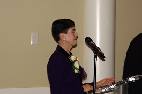 Joanne speaking