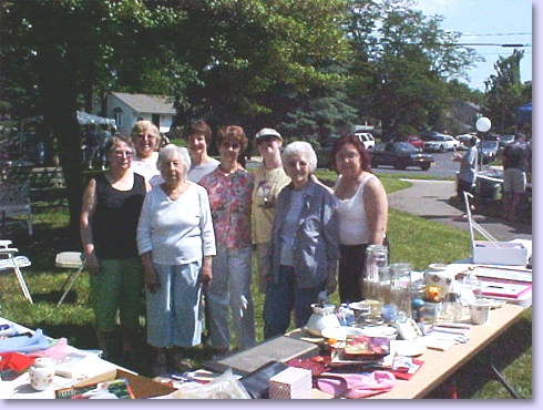 group at sales table